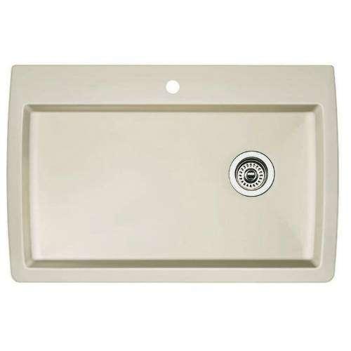Blanco 440196 Diamond Super Single Bowl Kitchen Sink, Biscuit Finish ...