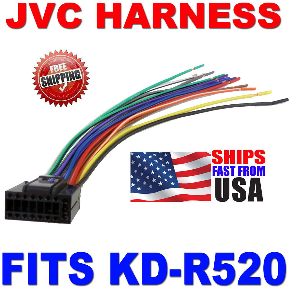 2010 JVC WIRE HARNESS 16 PIN HARNESS KD-R520 KDR520