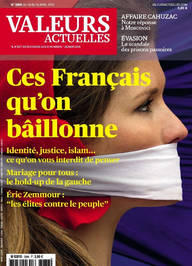 Valeurs Actuelles N°3986 du 18 au 24 Avril 2013