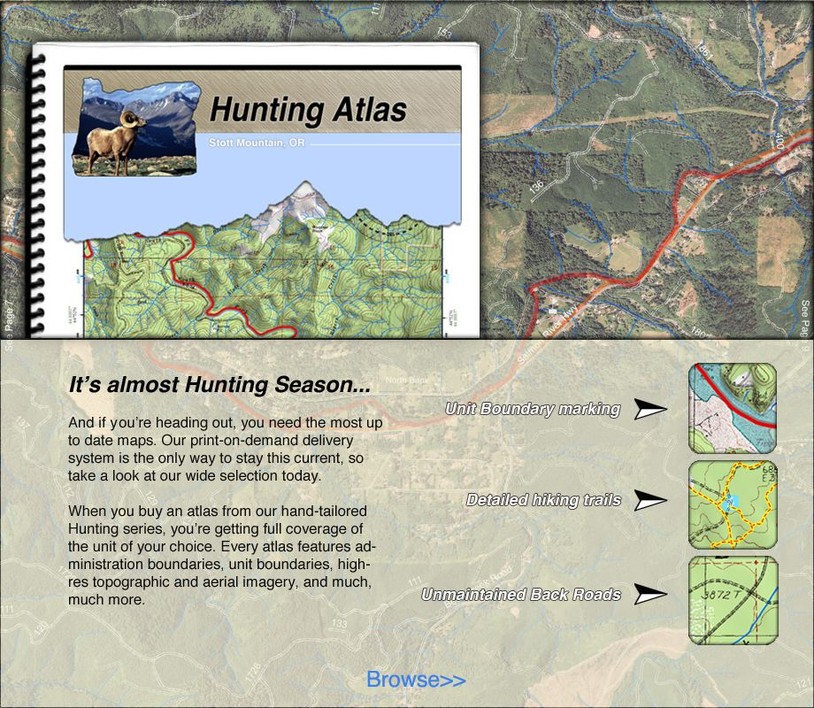 Hunting Maps BaseImage GIS Datasource Solutions - Aerial hunting maps