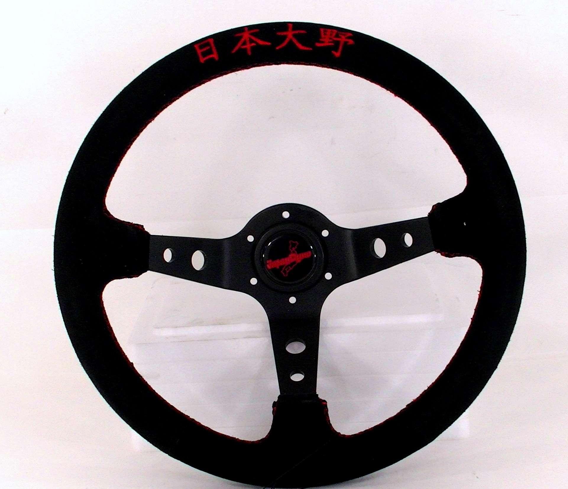 JapanDyno Aguresshibu steering wheel+Boss Legacy Liberty BG5 BD5