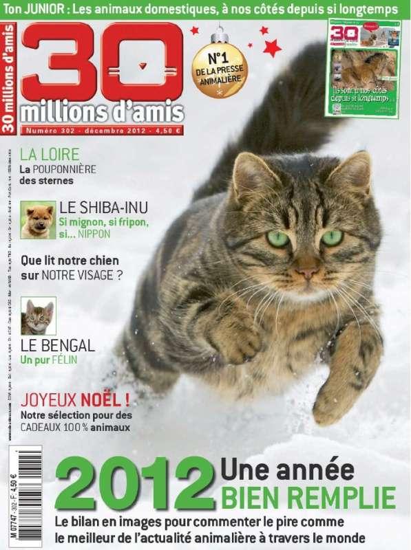 30 Millions d'Amis N°302 Décembre 2012