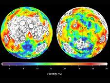 This image depicting the porosity of the<br /> lunar highland crust was derived using<br /> bulk density data from NASA&#39;s GRAIL mission<br /> and independent grain density measurements<br /> from NASA&#39;s Apollo moon mission samples as<br /> well as orbital remote-sensing data.<br /> Image credit: SA/JPL-Caltech/ IPGP <br /> <a href='http://www.nasa.gov/mission_pages/grail/multimedia/pia16588.html' class='bbc_url' title='External link' rel='nofollow external'>� Full image and caption</a>