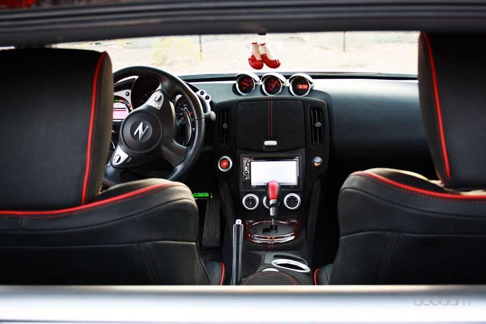 Custom interior with alcantara carbonfiber nissan 370z - 350z carbon fiber interior trim kit ...