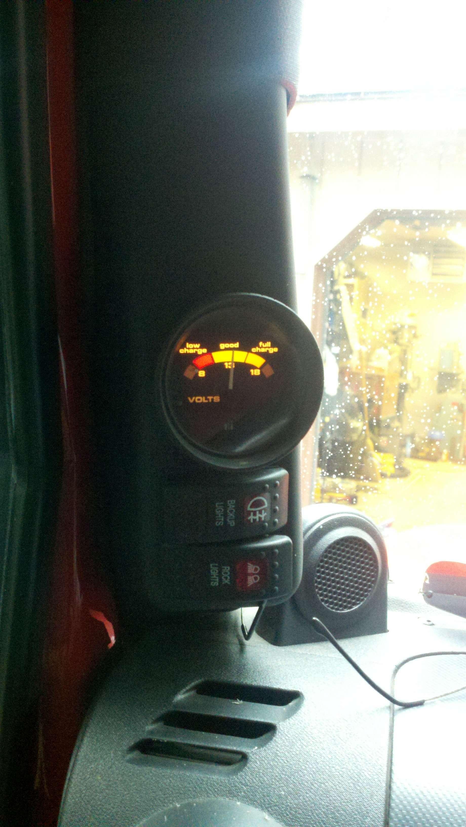 "Jeep Wrangler Hemi >> 2"" gauge in Rugged Ridge A-Pillar Switch Pod - JKowners ..."